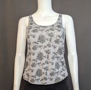 Wet Seal Floral Gray Tank Size S